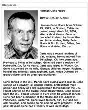 Obituary-Bakersfield Californian