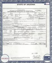 Certificate of Deat